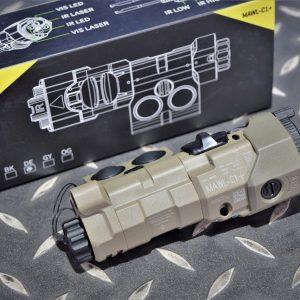 MAWL C1 爆閃 雷射 戰術槍燈 電筒 沙色 C1-DE
