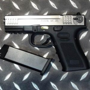 WE ISSC M22 銀色 黑握把 單發 瓦斯手槍 GBB 銀黑 WE-M22-B-S