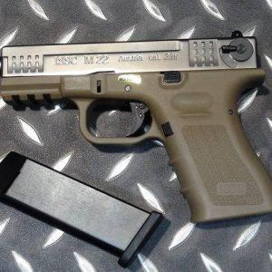 WE ISSC M22 銀色 沙色握把 單發 瓦斯手槍 GBB 銀沙 WE-M22-A-S