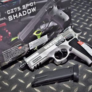 KJ SP-01 CZ75 逆14牙槍管 GBB 瓦斯槍 手槍 灰色 KJGSSP01U