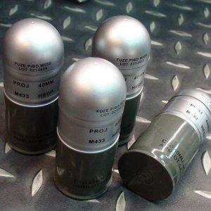 裝飾用 M433HE 槍榴彈 一標一顆 塑膠製品 銀色下標區 TMC2237-SL