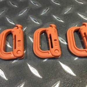 ITW Grimloc 戰術快速 G型扣環 1吋織帶可用 一標3個 橘色下標區 TB918