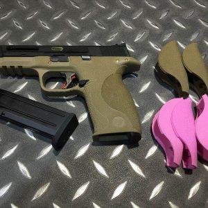 WE 原力系列 大嘴鳥 M&P GBB 手槍 黑滑套 銀槍管 烙印戰鬥版 沙色 WE-M-P-DBS