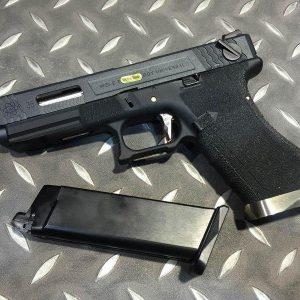 WE WET G35 烙印戰鬥版 原力 金屬 瓦斯手槍 GBB 黑滑套 銀槍管 黑色握把 WE-G35-BSB