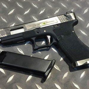 WE WET G35 烙印戰鬥版 原力 金屬 瓦斯手槍 GBB 銀滑套 銀槍管 黑色握把 WE-G35-SSB