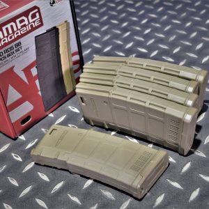 ARES M4 AEG 電動槍 130發 PMAG造型 沙色 無聲彈匣 一盒五入 MAG-B-023-DE