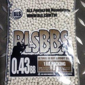 BLS 0.43g 1KG裝 白色 生存遊戲專用BB彈 0.43下標區 BLS-H43