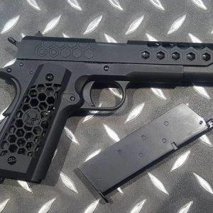 WE 1911 蜂巢 加大氣室 瓦斯槍 手槍 GBB MEU M1911 黑色 WE-1911-BB
