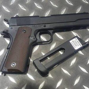 KJ M1911 CO2動力手槍 黑色 全金屬 KJ-1911-CO2