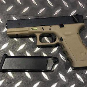 WE GLOCK 風格 G18C 半金屬瓦斯槍 沙色 WE-G18-DE