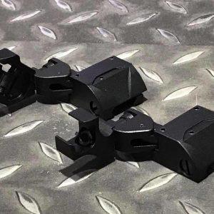 鋁合金 鑽石 D-45風格 多角度旋轉 準星照門組 側邊準照組 黑色 JDT217
