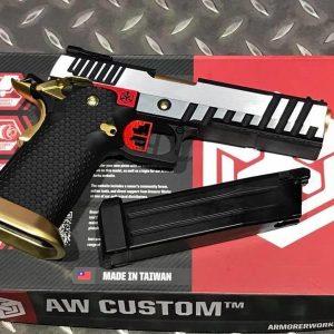 AW CUSTOM WE HI-CAPA5.1 GBB 手槍 鋼鐵人 IPSC 銀色 WE-AW-HX2001