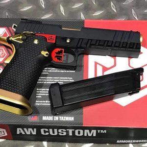AW CUSTOM WE HI-CAPA5.1 GBB 手槍 鋼鐵人 IPSC 黑色 WE-AW-HX2002