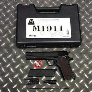 Bell 全金屬 1911 瓦斯手槍 附槍盒 BELL-723