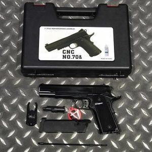 Bell 全金屬 1911 V12 瓦斯手槍 附槍盒 BELL-708