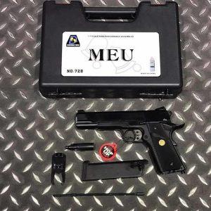 Bell 全金屬 MEU M1911 瓦斯手槍 附槍盒 BELL-728