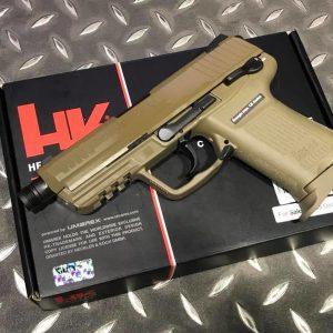 VFC / UMAREX HK45 CT 戰術板瓦斯手槍 H&K 授權 沙色 VFC-HK45CT-DE