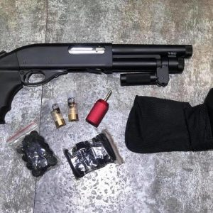 APS CAM MKII M870 AOW 瓦斯散彈槍 霰彈槍 黑色 APS-CAM-MKII-AOW