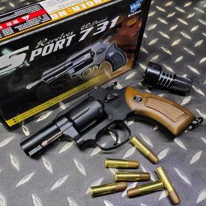 WG SHERIFF 731 M36 左輪 黑色 2.5吋 CO2 手槍 WG-M36-CO2
