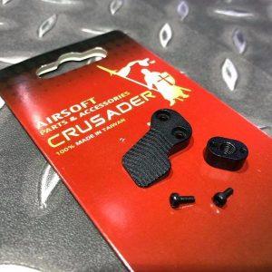 十字軍CRUSADER – 競技用加大彈匣釋放鈕 VFC M4 AEG用 CR-GM11-0009_BK