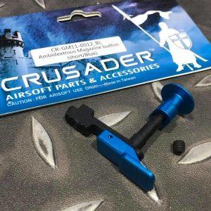 十字軍CRUSADER – 雙邊彈匣釋放鈕 VFC M4 AEG用 藍色 CR-GM11-0012_BL