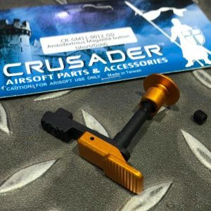 十字軍CRUSADER – 雙邊彈匣釋放鈕 VFC M4 AEG用 金色 CR-GM11-0012_GD