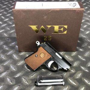 WE COLT 類科爾特 .25 GBB 瓦斯手槍 掌心雷 滑套可動 黑色 WE-25-BK