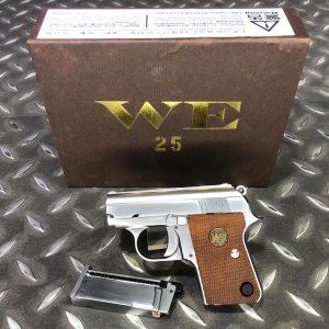 WE COLT 類科爾特 .25 GBB 掌心雷 瓦斯手槍 滑套可動 銀色 WE-25-SV
