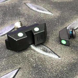警星 GUARDER MARUI G17 鋼製夜間照門組 (綠色) GLK-41(GREEN)