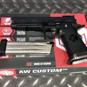 AW CUSTOM WE HI-CAPA IPSC GBB 瓦斯手槍 HX2302 黑色