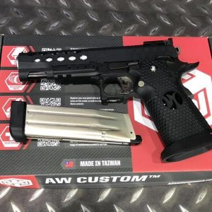 AW CUSTOM WE HI CAPA IPSC GBB 瓦斯手槍 HX2502 蜂巢 黑色