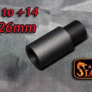 SLONG 神龍 鋁合金外管 內正14牙 外逆14牙 長26mm 橘色 SL-00-66B