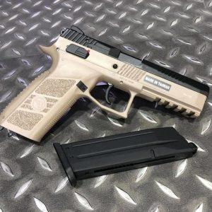 KJ CZ P-09 DUTY GBB 半金屬瓦斯槍 沙色 KJGSCZP09T