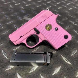 WE COLT 類科爾特 .25 GBB 瓦斯手槍 掌心雷 滑套可動 粉紅色 附精美包裝盒 WE-25-PK