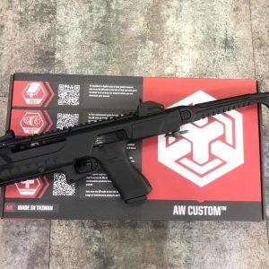 AW CUSTOM WE 系統 TCC GLOCK 黑色 衝鋒套件+WE G18瓦斯手槍標準版 套裝組