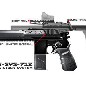 SRU SR 712 M712 盒子砲 衝鋒套件 伸縮托