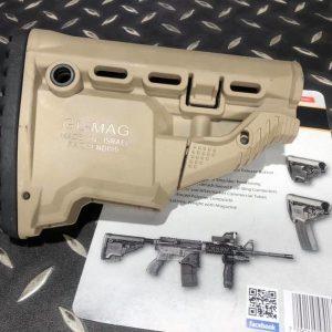 真品FAB 備用彈夾井型戰術 後托 M4/M16/AR15 (沙色 bk) GL-MAG