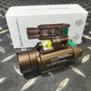 OLIGHT Baldr Pro 1350流明 260遠射 綠雷射槍燈 沙 OL-10