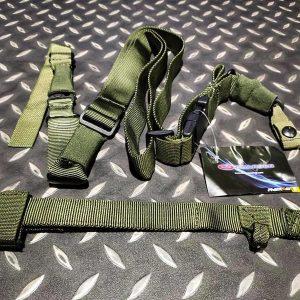 警星三點式戰術槍背帶 1-1/4英吋規格 綠色 S-02-OD