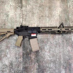 GHK COLT 授權 小馬刻字 LAMBDA DEFENCE M4A1 SOPMOD II 瓦斯槍 沙色