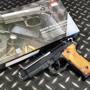 KJ M9IA GBB 戰術魚骨版 全金屬 實木握把版 瓦斯槍
