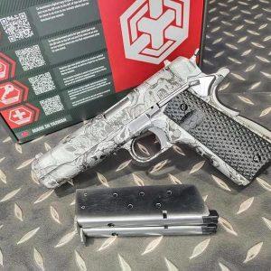 AW CUSTOM 1911 GBB 雙管 水轉印 全金屬 瓦斯手槍 WE系統 AW-MX0100