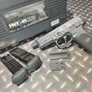 Cybergun FNX-45 GBB 豪華版 1槍2匣+RMR鏡座+槍箱 黑色 CBG-FNX45-BK1