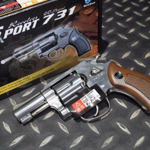 WG SHERIFF 731 M36 左輪 銀色 2.5吋 CO2手槍 WG-M36S-CO2