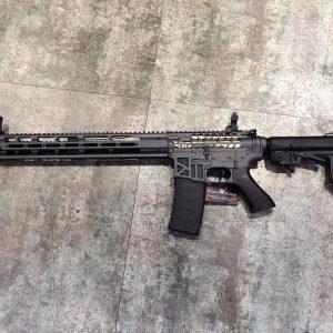 King Arms M4 TWS M-Lok AEG 全金屬 電動卡賓槍 鏤空金色限量版