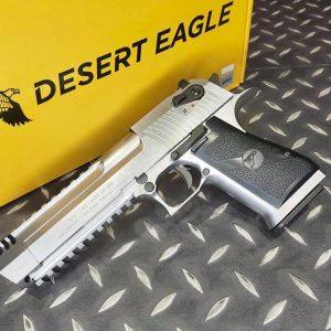 CYBERGUN WE Desert Eagle .50AE 沙漠之鷹 魚骨版 授權刻印 GBB 全金屬 瓦斯手槍 銀色
