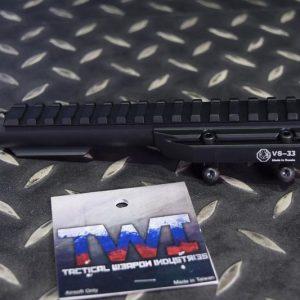 TWI VS-33 AK 專用瓦斯鋼管低軌魚骨(黑色)