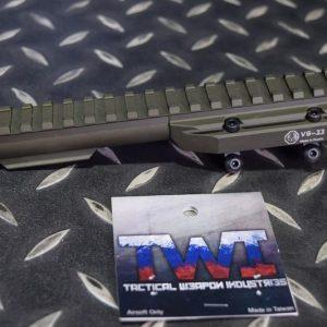 TWI VS-33 AK 專用瓦斯鋼管低軌魚骨(FDE 沙色)