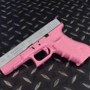 G17 GBB 手槍 沙漠風暴 鋁製滑套 警星套件成槍 無彈匣 粉紅
