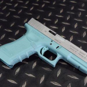 G17 GBB 手槍 沙漠風暴 鋁製滑套 警星套件成槍 無彈匣 蒂芬尼藍